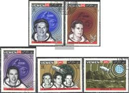 Yemen (UK) 652A-656A (complete Issue) Fine Used / Cancelled 1969 Mondumkreisung Apollo 8 - Yemen