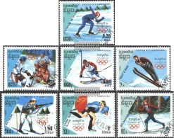 Cambodia 911-917 (complete Issue) Fine Used / Cancelled 1988 Olympic. Winter Games, Calgary - Cambodja