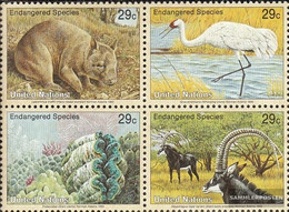 UN - New York 644-647 Block Of Four (complete Issue) Unmounted Mint / Never Hinged 1993 Affected Animals - New York – UN Headquarters