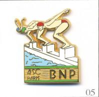 Pin´s Banque / Assurance - Banque BNP / ASC Paris - Section Natation. Estampillé Ballard. Zamac. T457-05 - Banks