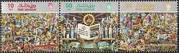 Brunei 362-364 Triple Strip (complete Issue) Unmounted Mint / Never Hinged 1987 Office For Language And Literature - Brunei (1984-...)