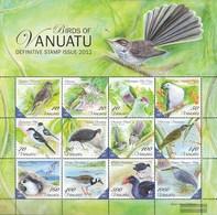 Vanuatu 1464-1475 ZD-archery (complete.issue.) Unmounted Mint / Never Hinged 2012 Locals Birds - Vanuatu (1980-...)
