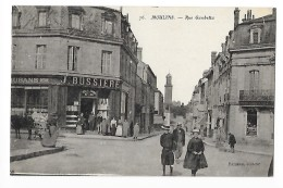 MOULINS  (cpa 03)  Rue Gambetta  - Magasin Jean BUSSIERE Rubans - Belle Animation - -  L 1 - Moulins