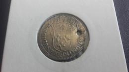1/12 Ecu Au Buste Juvénile 1663 & Louis XIV - Percé - 987-1789 Könige