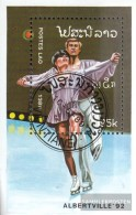 Laos Block127 (complete Issue) Fine Used / Cancelled 1989 Olympics Winter Games '92 - Laos