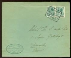 BRIEFOMSLAG Uit 1933 Van HAARLEM Naar BRUSSEL * HALTESTEMPEL AMSTERDAM-ROOSENDAAL  (10.475h) - Period 1891-1948 (Wilhelmina)