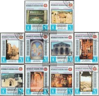 Yemen (UK) 817A-826A (complete Issue) Fine Used / Cancelled 1969 Holy Sites Of Christianity - Yemen