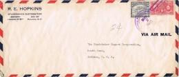 18858. Carta Aerea PANAMA 1942 To INDIANA Usa - Panamá