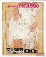 North-Korea Block110 (complete.issue.) Fine Used / Cancelled 1982 100. Birthday Pablo Picasso - Korea (Nord-)