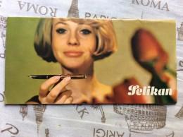 Advertising  ADVERTISEMENT PELIKAN CATALOGUE WITH MODELS FOUNTAIN PEN ,5 SHEETS,DIMEN.10 X 20.5 Cm - Advertising