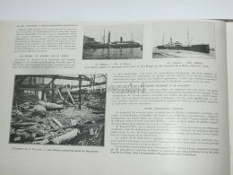 The Burning Of The Villette The Charred Horses Among The Rubble Ship Malacca Scandia 1904 - Estampas & Grabados