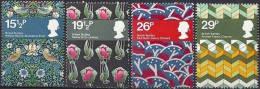 """England 1982: Michel-Nr. 923-926  ** MNH  """"Textil-Designer"""" - Textil"""