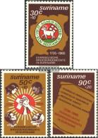 Suriname 1154-1156 (complete Issue) Unmounted Mint / Never Hinged 1985 Brotherhood - Surinam