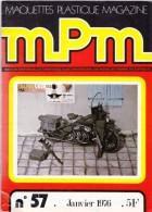 REVUE MENSUELLE N°57 JANVIER 1976 MAQUETTES PLASTIQUE MAGAZINE MPM MAQUETTISME COUVERTURE MOTO HARLEY-DAVIDSON WLA-45 - Model Making