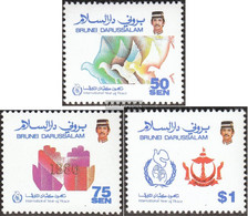 Brunei 349-351 (complete Issue) Unmounted Mint / Never Hinged 1986 Year Of Peace - Brunei (1984-...)