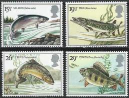 """England 1983: Michel-Nr. 938-941  ** MNH  """"Süsswasser-Fische"""" - Fische"""