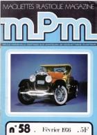 REVUE MENSUELLE N°58 FEVRIER 1976 MAQUETTES PLASTIQUE MAGAZINE MPM MAQUETTISME COUVERTURE LA LINCOLN ROADSTER 1927 - Model Making
