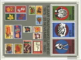 Suriname Block27 (complete Issue) Unmounted Mint / Never Hinged 1980 Independence - Surinam