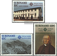 Suriname 1002-1004 (complete Issue) Unmounted Mint / Never Hinged 1982 Mission - Surinam