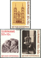 Suriname 1177-1179 (complete Issue) Unmounted Mint / Never Hinged 1986 Cathedral - Surinam