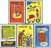 Suriname 997-1001 (complete Issue) Unmounted Mint / Never Hinged 1982 Youth - Surinam