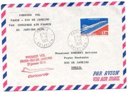 Premiere Vol Paris Rio 1976 - Non Classés