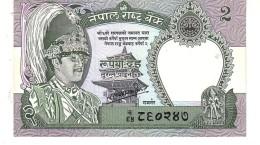 Nepal P.29 2 Rupees 1981  Unc - Nepal