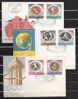 Pologne FDCs Série Complète JO 56 - Sommer 1956: Melbourne