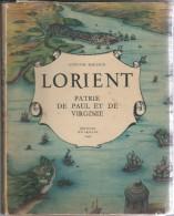 """56 - LORIENT-  Livre De 78 Pages """"Patrie De Paul Et Virginie """" De Gustave Mansion - Bretagne"""