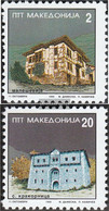 Makedonien 48-49 (complete Issue) Unmounted Mint / Never Hinged 1995 Architecture - Macedonia