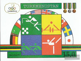 Turkmenistan Block2 (complete Issue) Unmounted Mint / Never Hinged 1992 Olympics Summer '92 - Turkmenistan