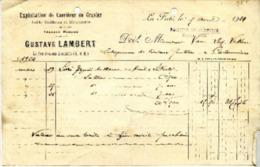 77 LA FERTE-SOUS-JOUARRE - Carrières De Gravier Gustave LAMBERT (Facture) - 1924 - France