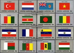 UN - New York 348-363 (complete Issue) Unmounted Mint / Never Hinged 1980 Member States - New York – UN Headquarters