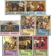 Yemen (UK) 412A-419A (complete Issue) Unmounted Mint / Never Hinged 1967 Moorish Art In Spain - Yemen