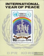North-Korea Block215 (complete Issue) Fine Used / Cancelled 1986 Year Of Peace - Korea, North