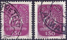 Portugal 1943 - Caravel ( Mi 652 - YT 634 ) Two Shades Of Color - Variétés Et Curiosités