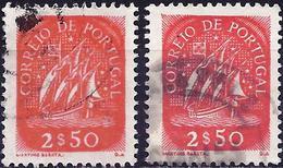 Portugal 1943 - Caravel ( Mi 656 - YT 638 ) Two Shades Of Color - Variétés Et Curiosités
