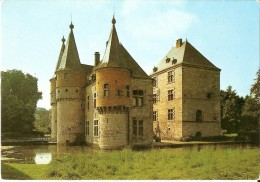 YVOIR - SPONTIN SUR BOCQ (5530) : Le Château Féodal, XIIè-XVIè S. Donjon Et Corps De Garde, Côté Nord. CPSM. - Yvoir