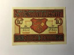 Allemagne Notgeld Bad Soodenad 50 Pfennig 1921 NEUF - Germany