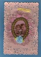 Magnifique Carte - Joli Couple - Médaillon - Tissu - - Santa Caterina