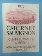 1398 - USA Cabernet Sauvignon 1992 Central Valley California - Etiquettes