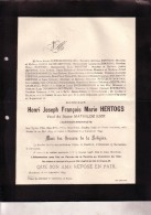 BOECHOUT ANVERS Henri HERTOGS Veuf LIZE 1849-1899 Architecte Ingénieur Doodsbrief - Décès