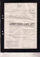 RUREMONDE HASSELT Lambert BOVY Gouverneur LIMBOURG LIMBURG 1840-1879 Doodsbrief Enterré BOLDERBERG - Overlijden
