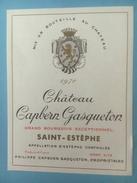 1417 -  Château Capbern Gasqueton 1970 Saint-Estèphe - Bordeaux