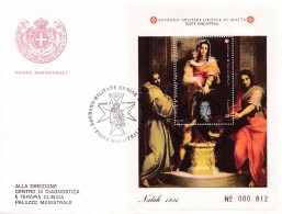 Malta 1991 S.M.O.M . Block FDC °. Natale, Christmas.   . N°. 000 812 - Christianisme