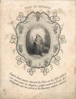 IMAGES RELIGIEUSES Fruit De Bénignité Retraite 1861 2 Scans - Santini