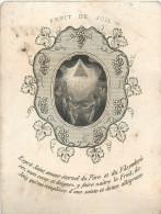 IMAGES RELIGIEUSES Fruit De Joie Retraite 1861 2 Scans - Santini