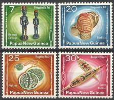 PAPUA NEW GUINEA 1976 BOUGAINVILLE ART SET MNH - Papua New Guinea