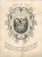 IMAGES RELIGIEUSES Fruit De Paix Retraite 1861 2 Scans - Santini