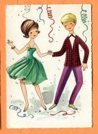 MAX-24  Illustrateur, Couple Dansant Sous Les Cotillons.  Circulé Sous Enveloppe En 1968 - Mode